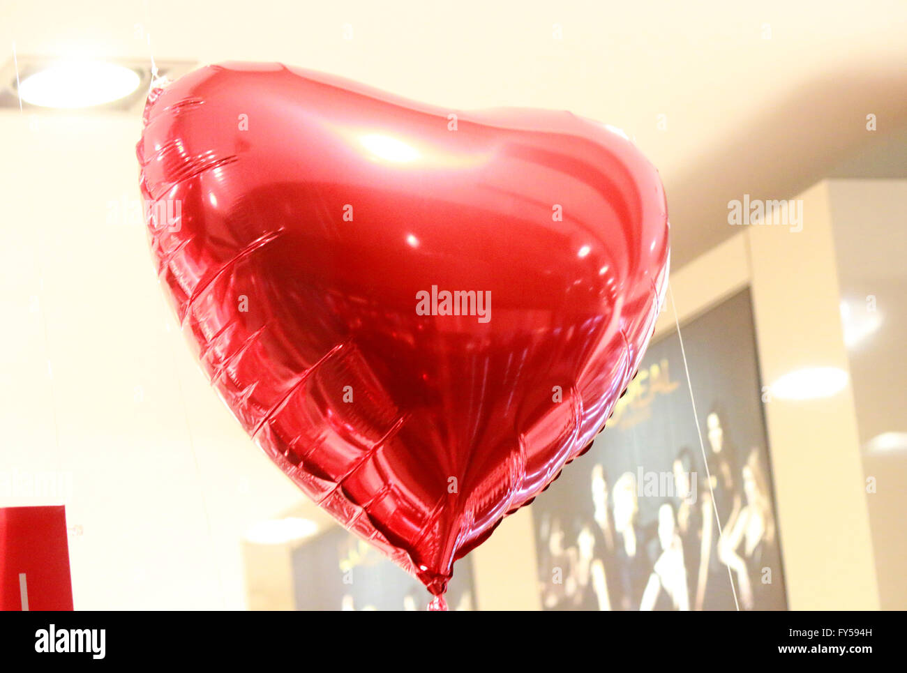 Herz-Ballon, Berlin. - Stock Image