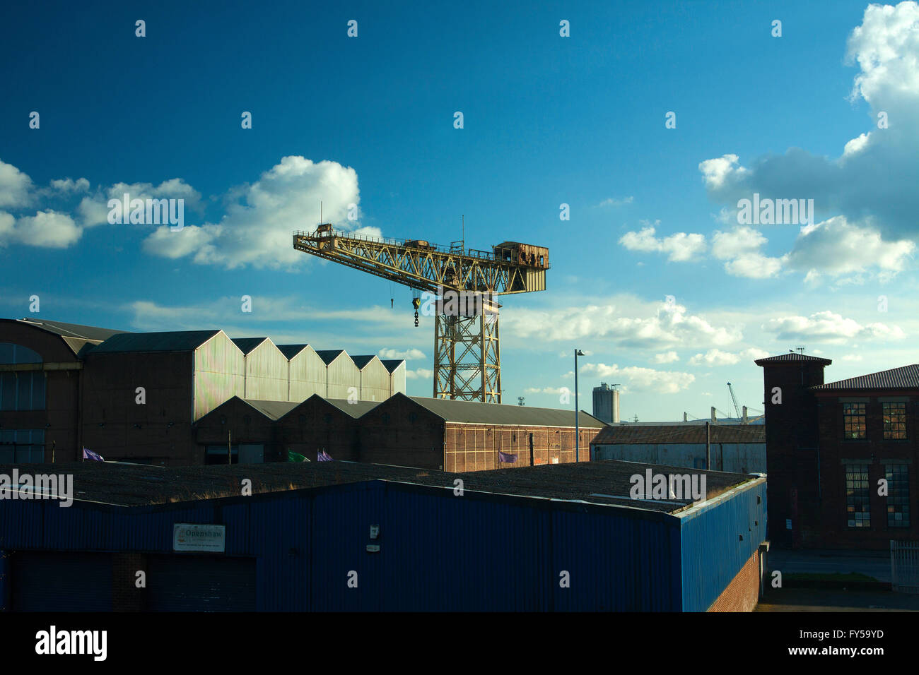 The Barclay Curle Titan Crane, Whiteinch, Glasgow - Stock Image