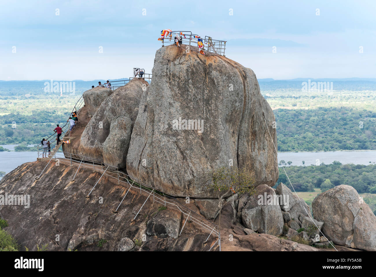 Aradhana Gala Rock, Mihintale, Sri Lanka Stock Photo