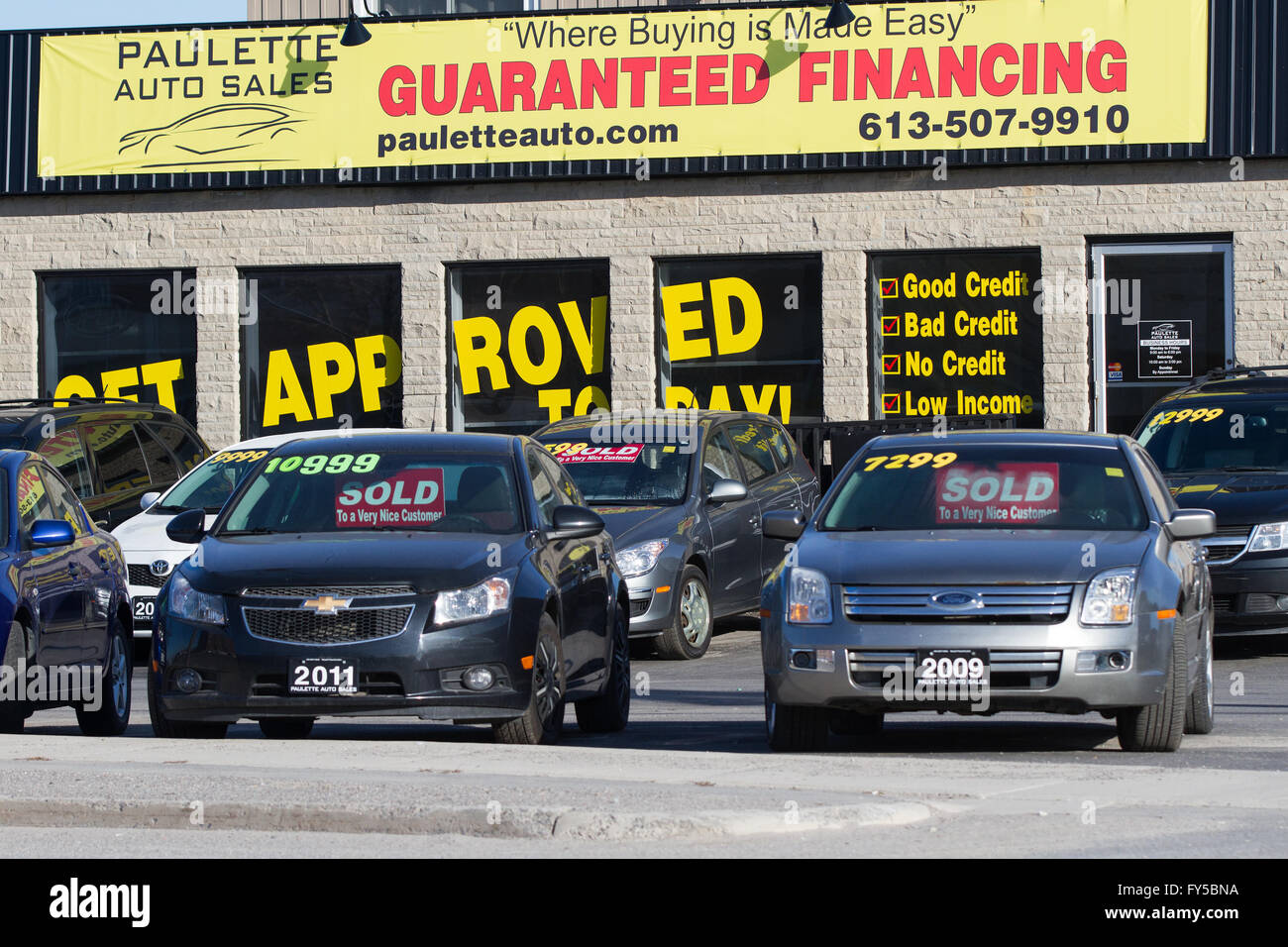 Used Cars Dealership >> Several Used Cars For Sale At A Car Dealership In Kingston