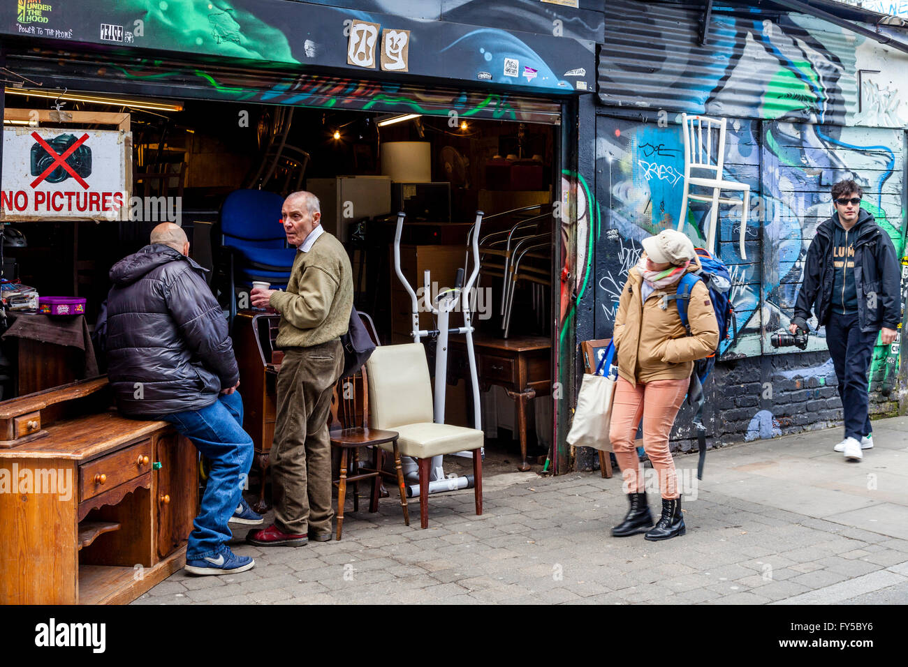 Furniture Shop, Brick Lane, London, UK - Stock Image
