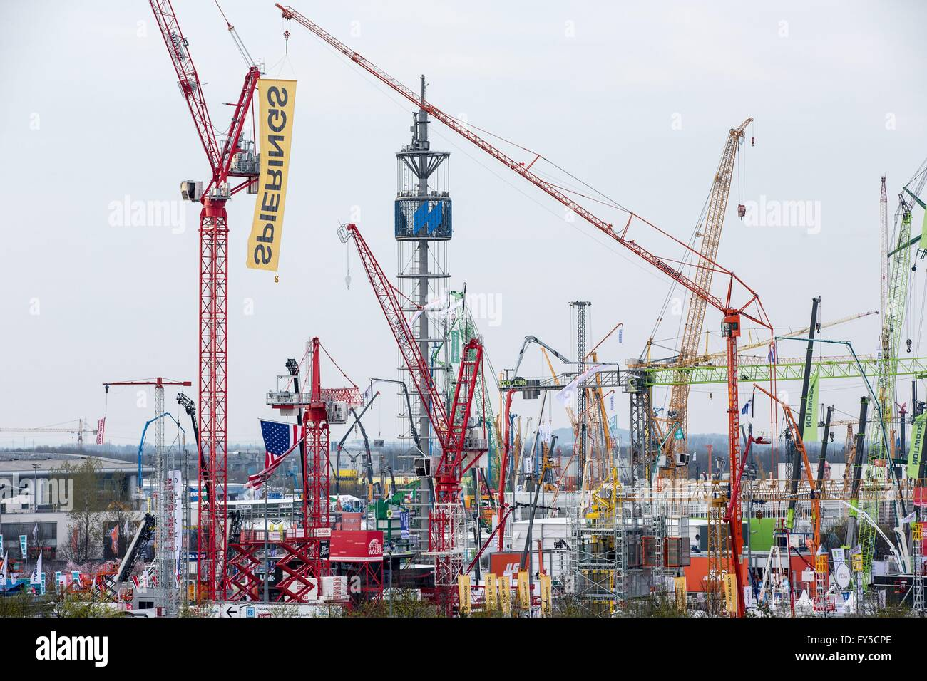World largest construction equipment exhibition of the world - bauma, Munich, Apr. 10, 2016. - Stock Image