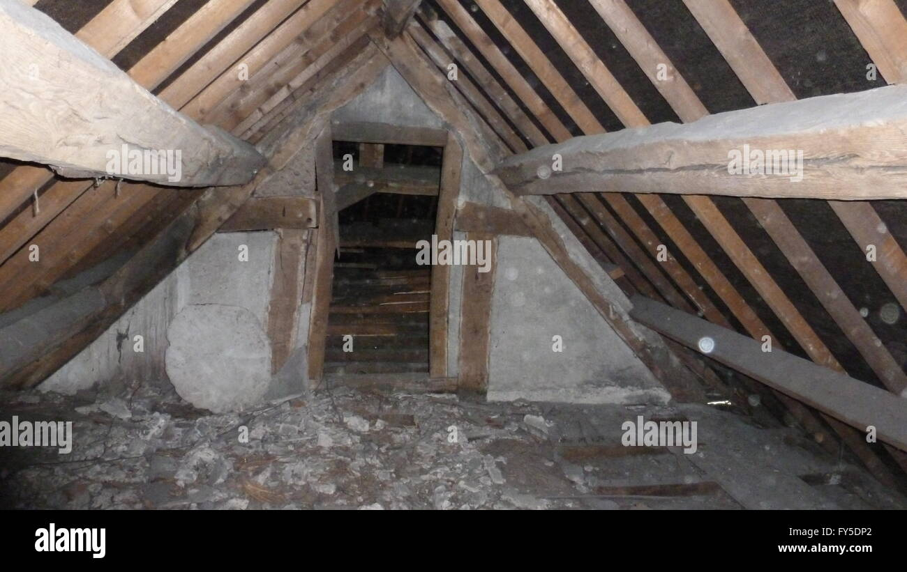 Loft and timbers - Stock Image