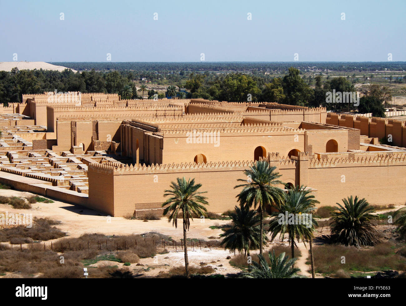 Restored ruins of ancient Babylon, Iraq. - Stock Image