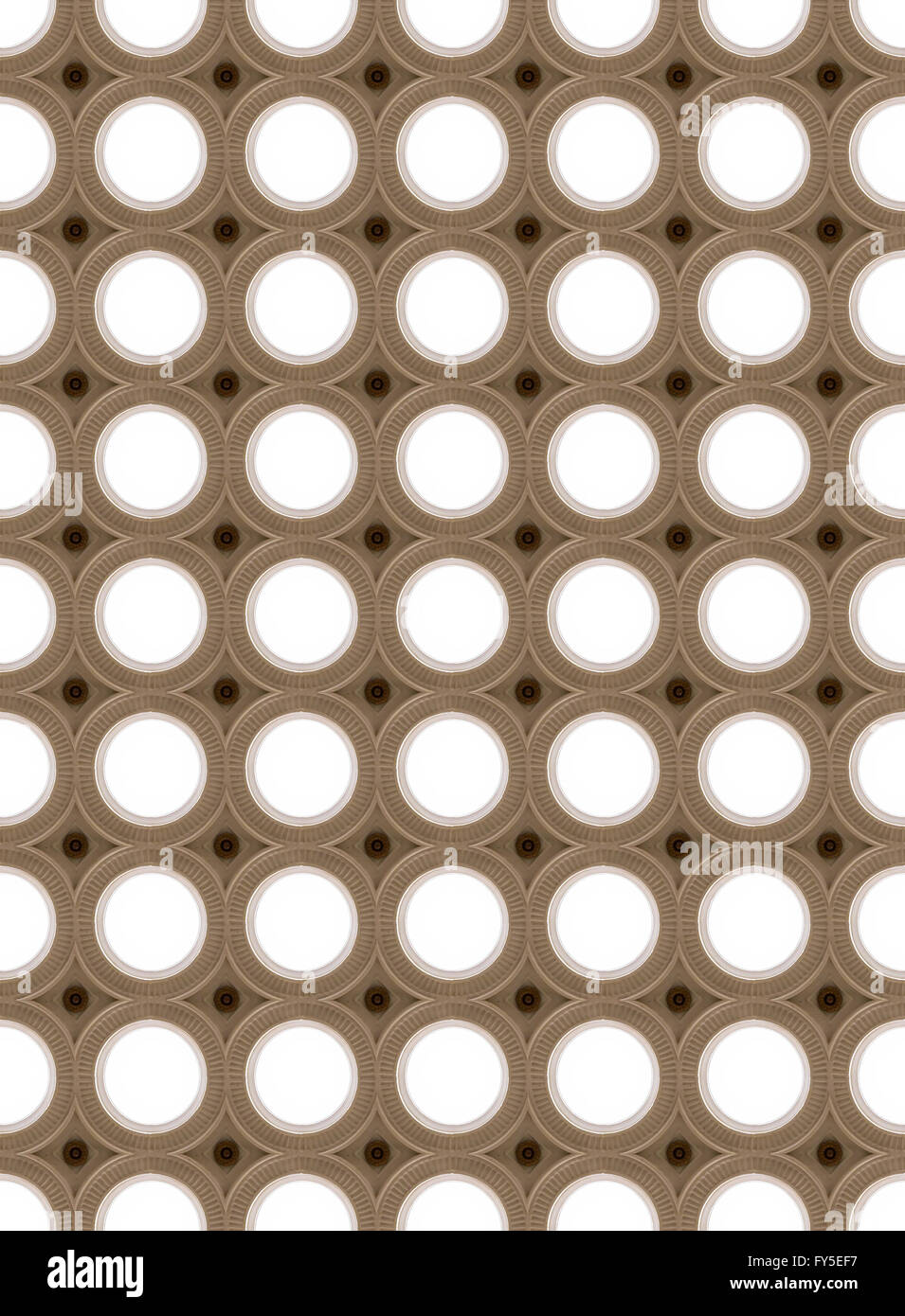 Seamless picture of lighting circles, art-deco stile Stock Photo