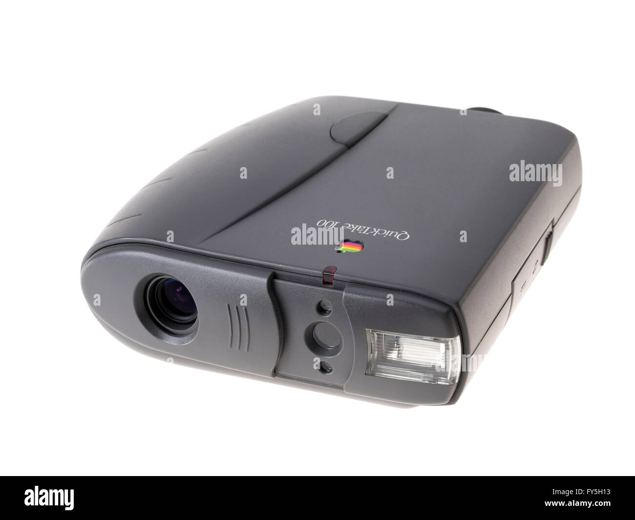 Apple QuickTake 100 consumer digital camera released 1994 by Apple Computer  with images of 640×480 pixels - Stock Image
