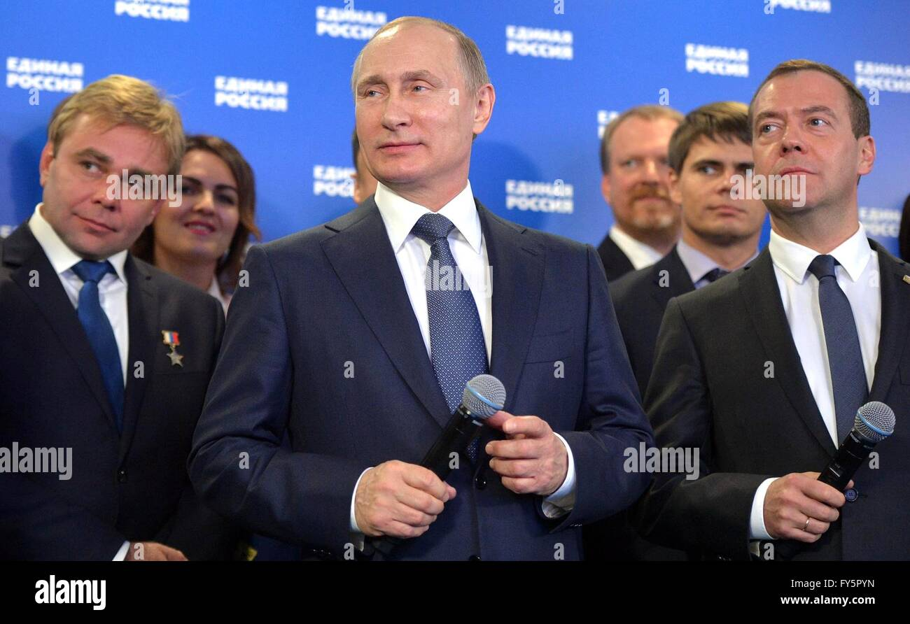 Russian President Vladimir Putin And Prime Minister Dmitry Medvedev Stock Photo Alamy