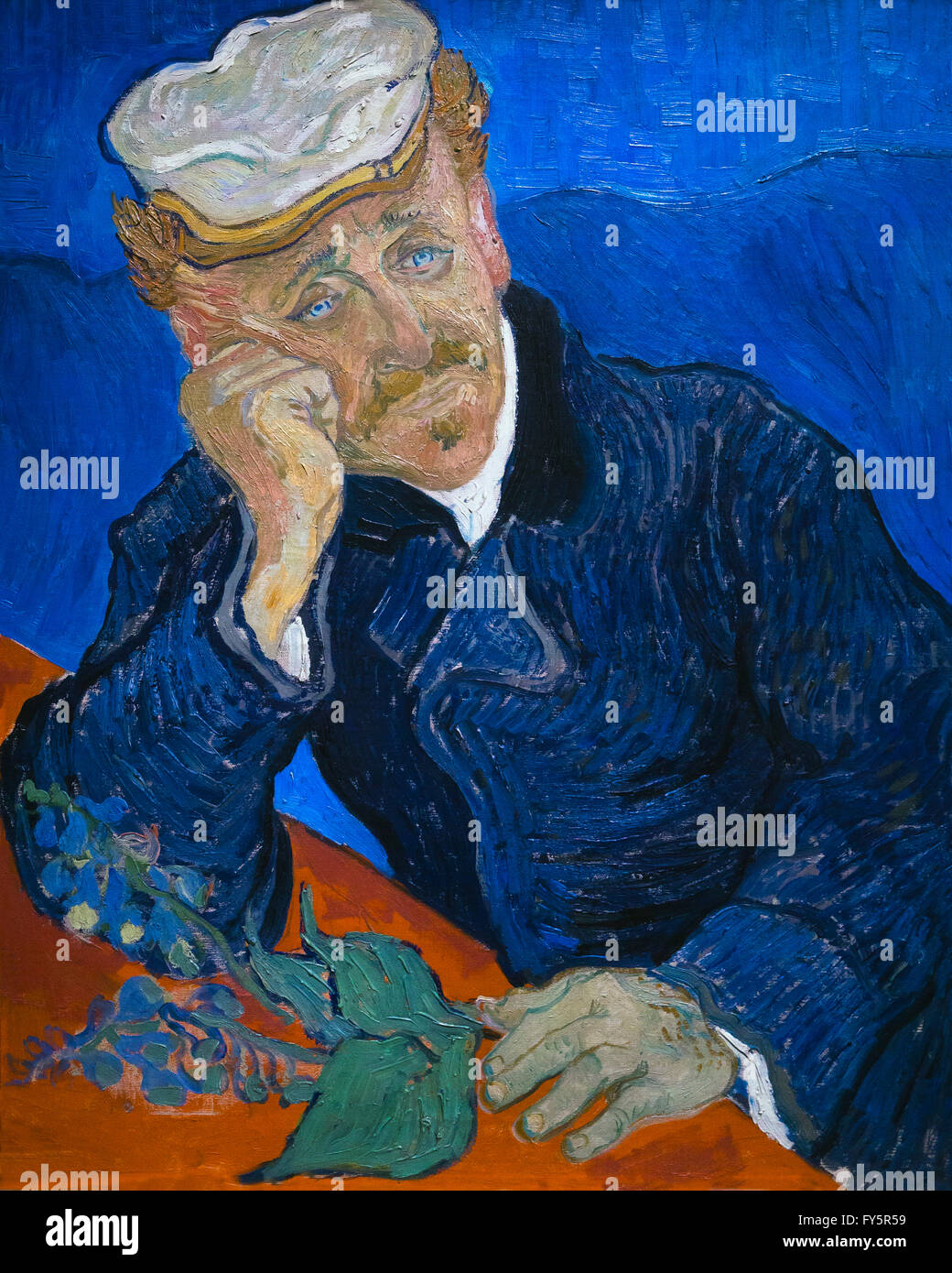 Dr Paul Gachet, by Vincent van Gogh, 1890 Musee D'Orsay, Paris, France, Europe - Stock Image