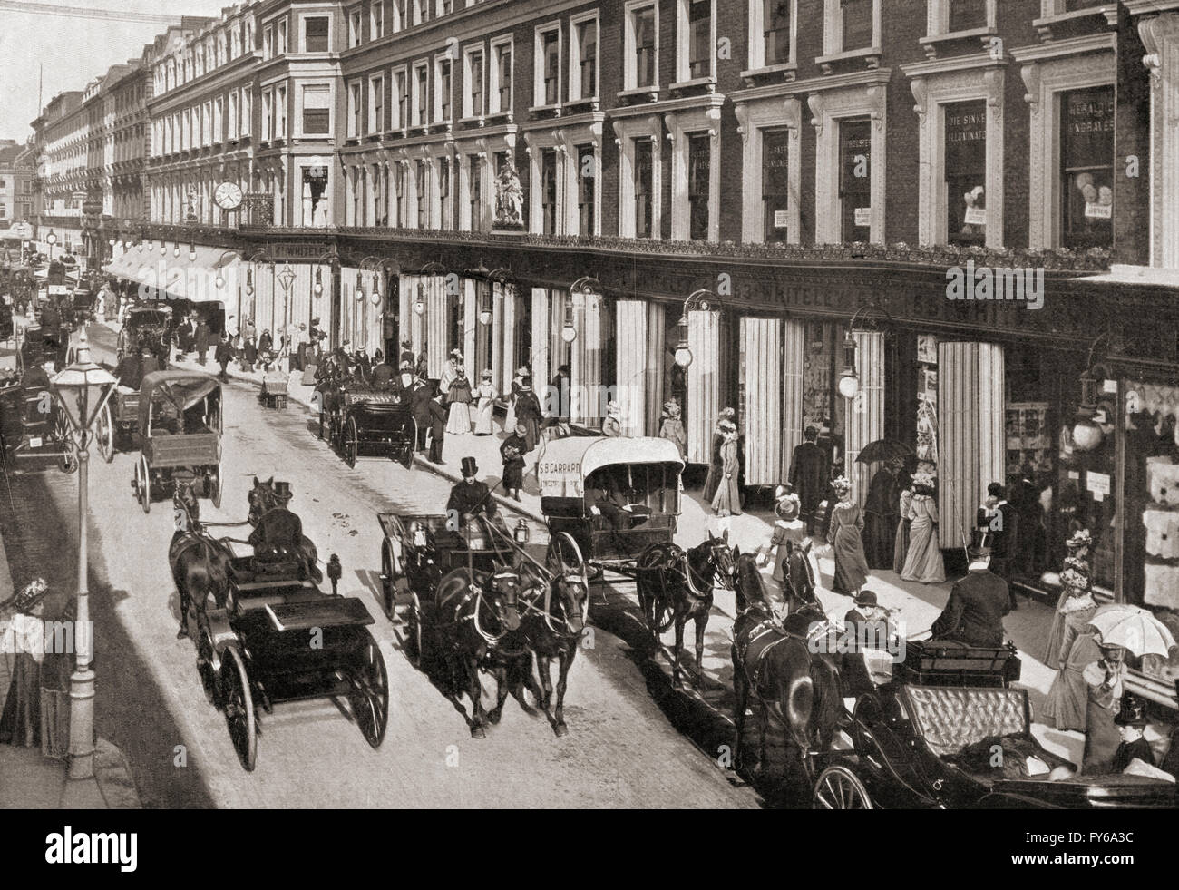 A view of Westbourne Grove, London, England in the early 20th century. - Stock Image