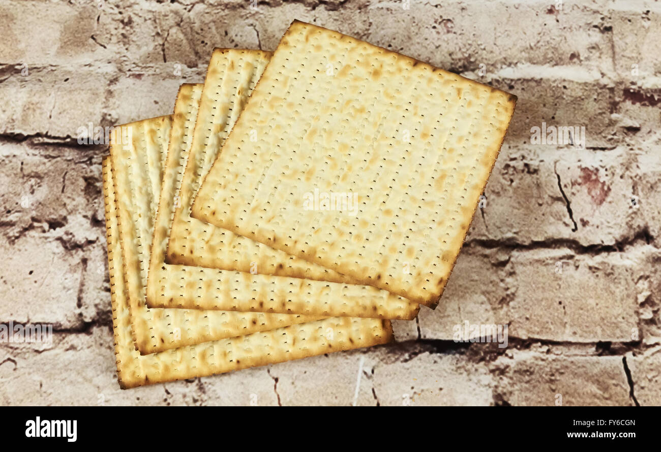 background. matzoh jewish passover bread - Stock Image