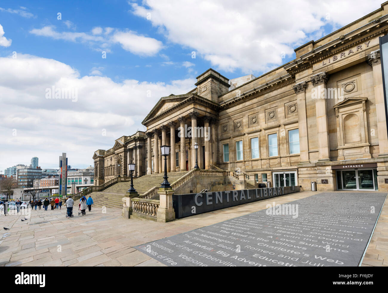 The Central Library and World Museum, William Brown Street, Liverpool, England, UK Stock Photo