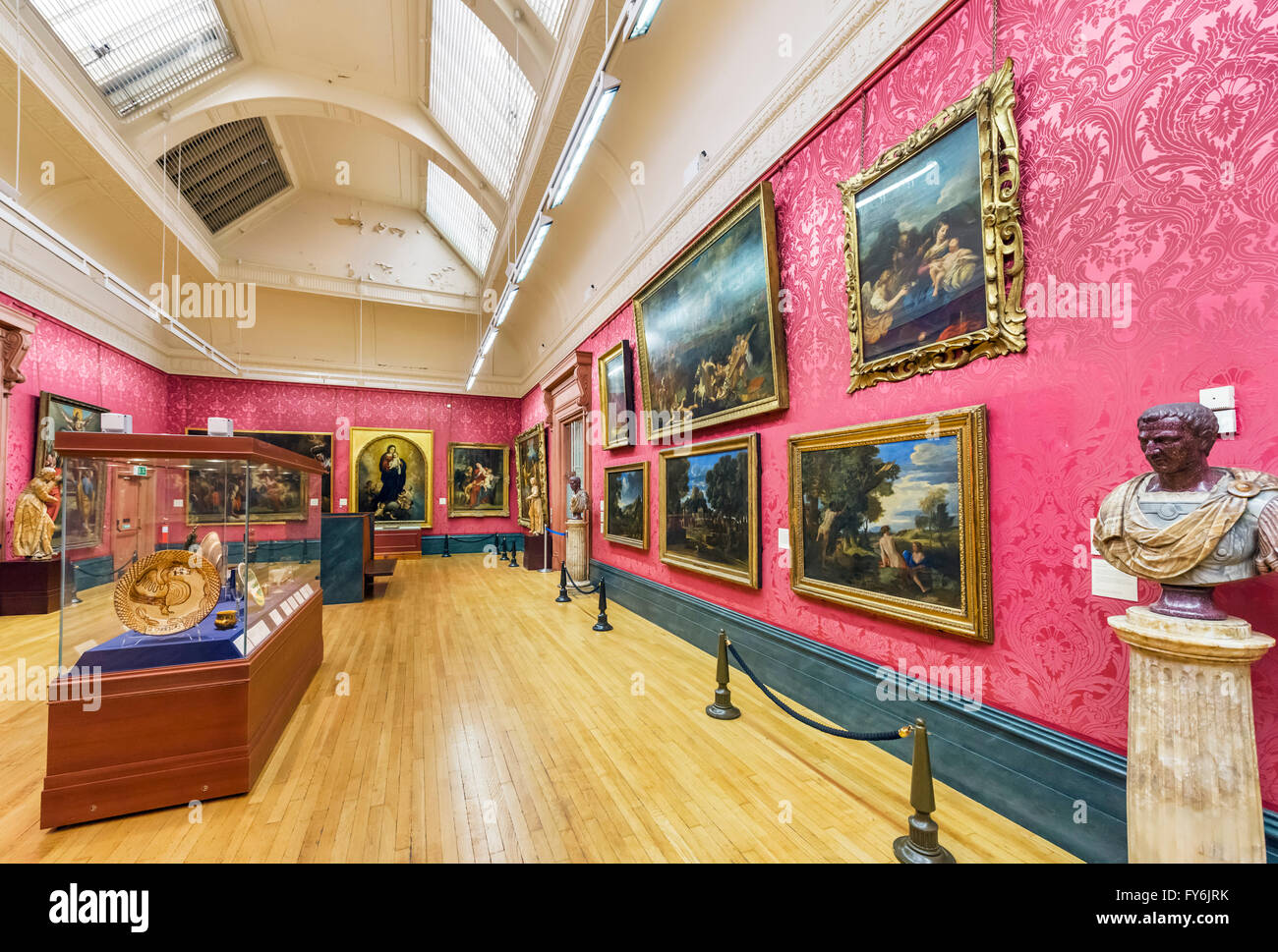 Interior of the Walker Art Gallery, Liverpool, England, UK - Stock Image