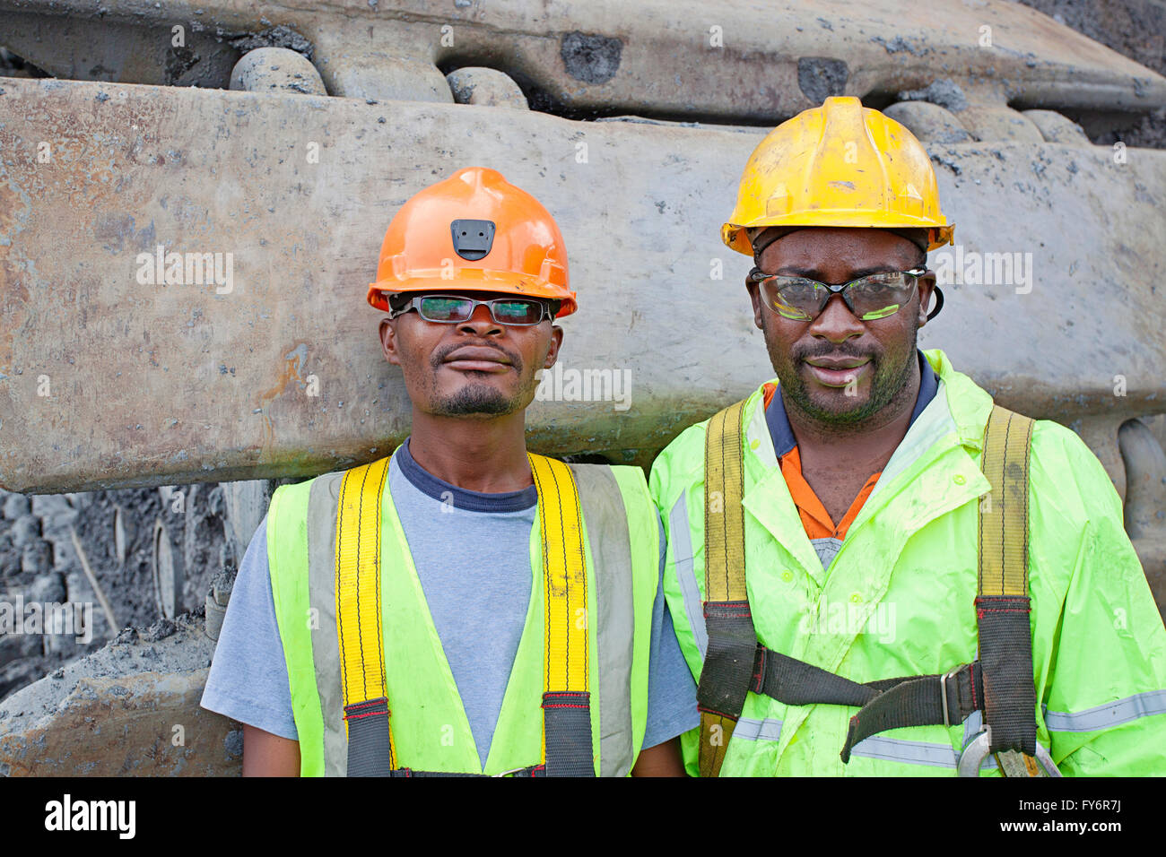 Two First Quantum copper mine employees - Stock Image