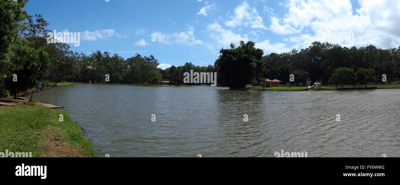 Wide-shot of large Pond in National Park in San Jose, Costa Rica - Stock Image