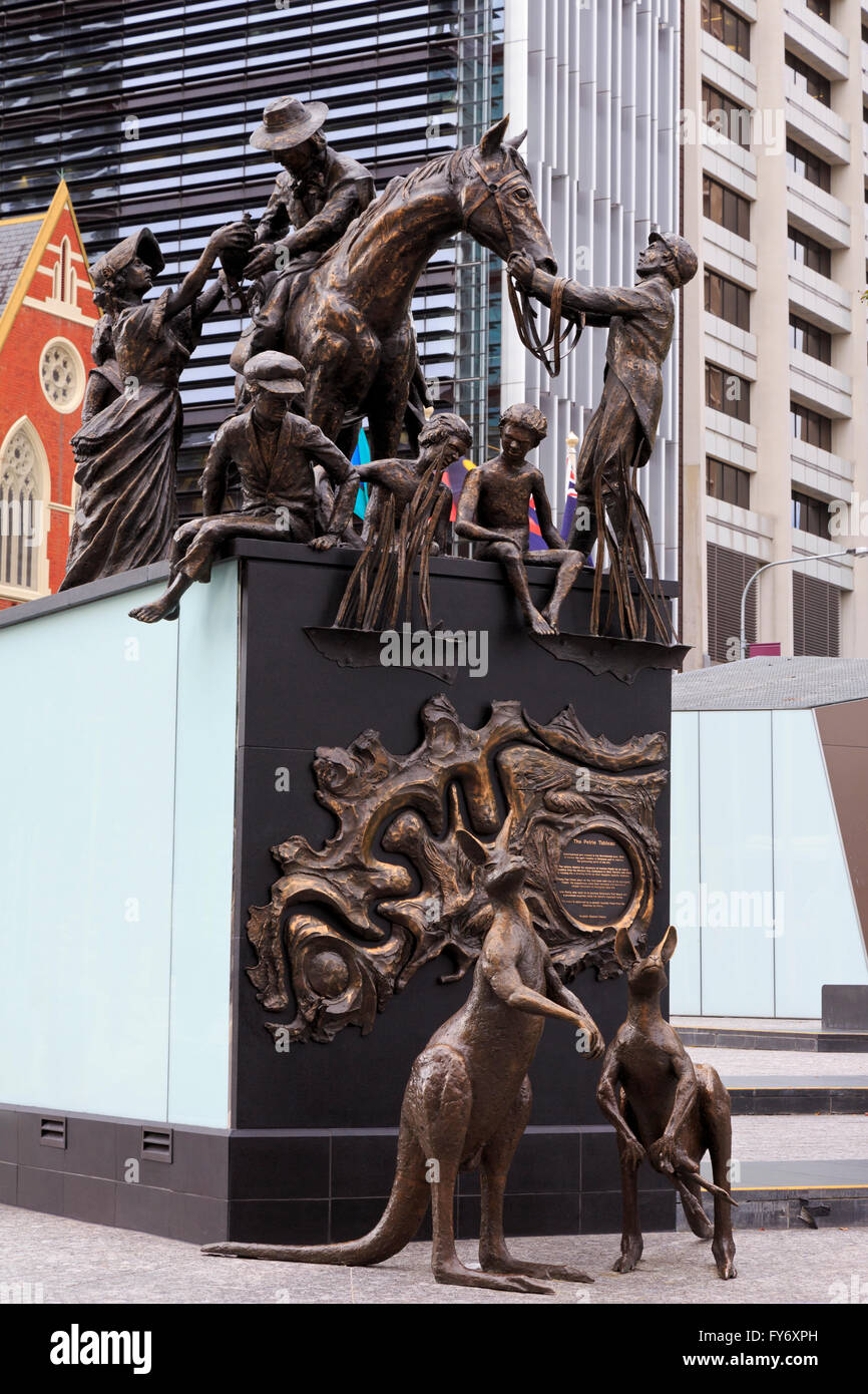The Petrie Tableau, King George Square, Brisbane, Queensland, Australia - Stock Image