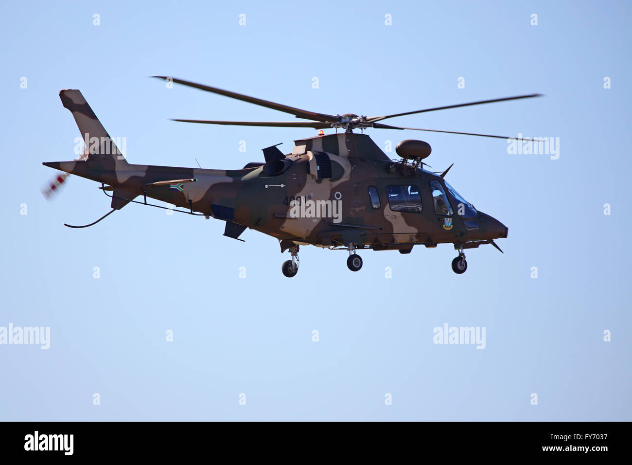 Military Helicopter flyby - Stock Image