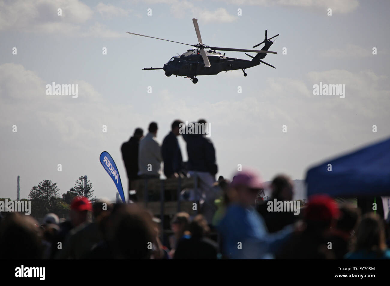 Military Helicopter at air show - Stock Image