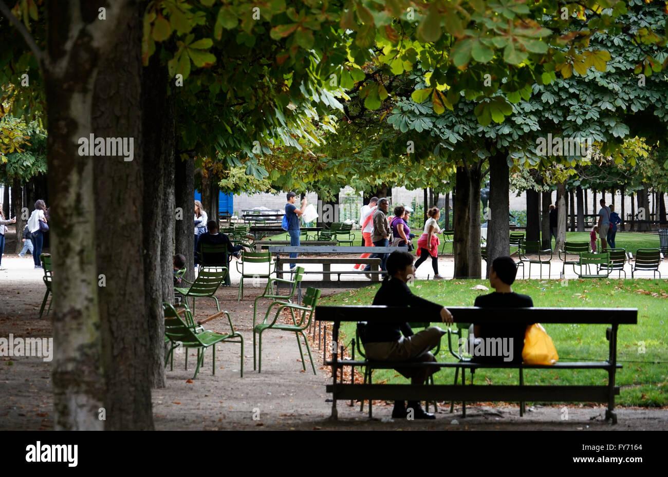 Public Garden Tuileries Jardin Des Tuileries Space Urban Landscape ...