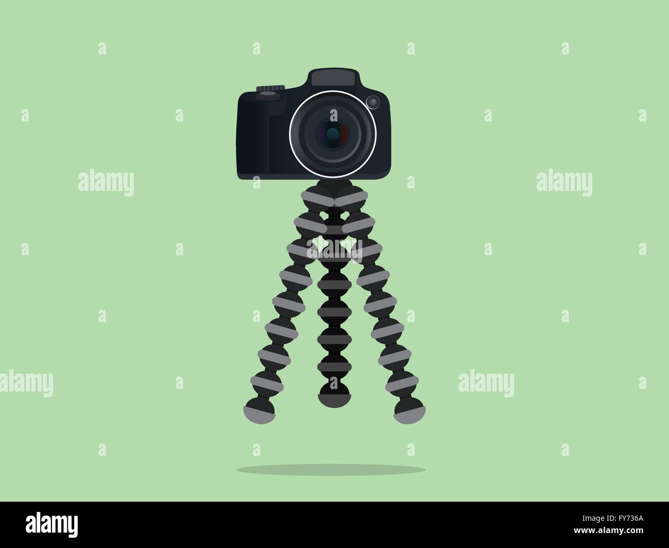 camera slr dslr tripod with gorilla style - Stock Vector