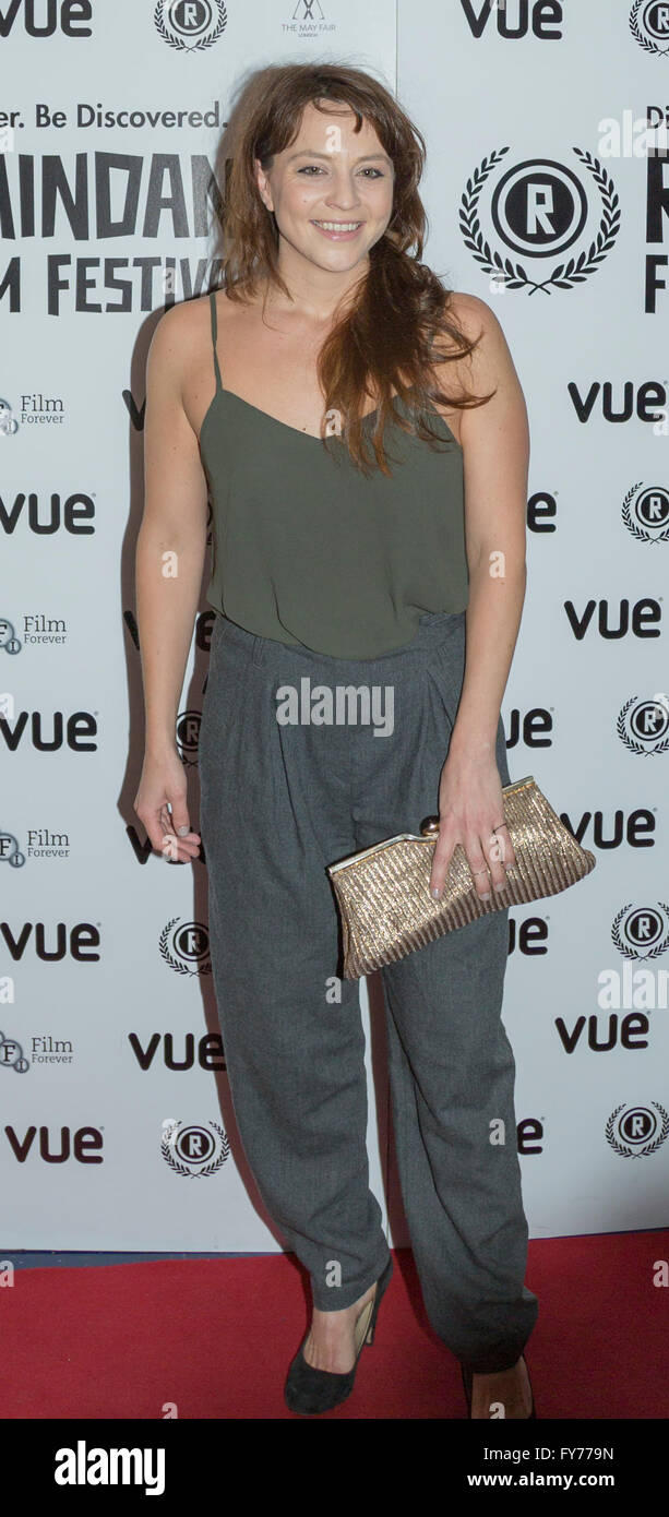 Ania Sowinski attends the UK Premiere of Keeping Rosy at the 22nd annual Raindance Film Festival in Vue Piccadilly, - Stock Image