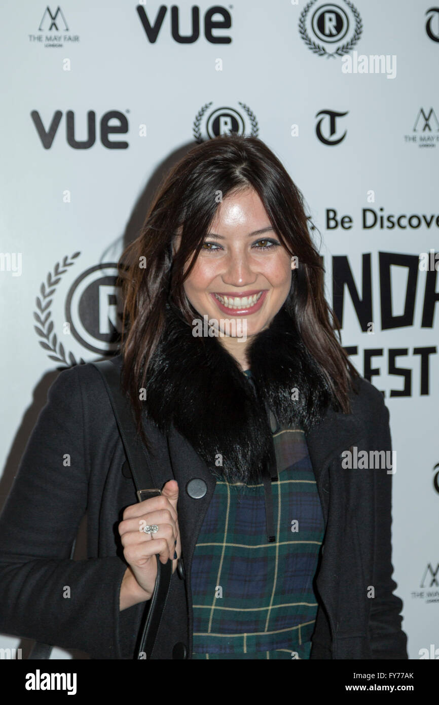 Daisy Lowe attends the UK Premiere of Keeping Rosy at the 22nd annual Raindance Film Festival in Vue Piccadilly, - Stock Image