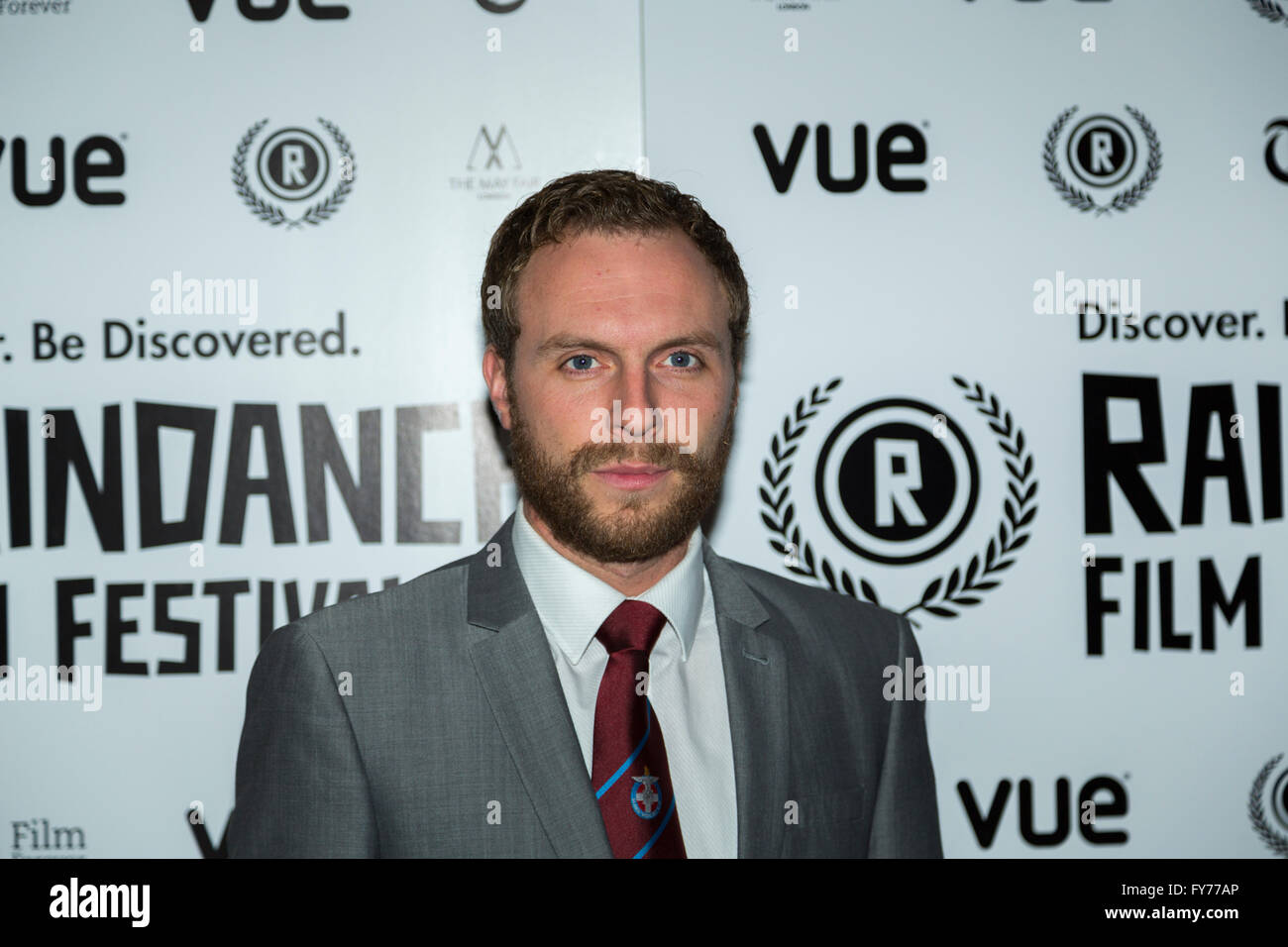 Ben Batt attends the UK Premiere of Keeping Rosy at the 22nd annual Raindance Film Festival in Vue Piccadilly, London. - Stock Image