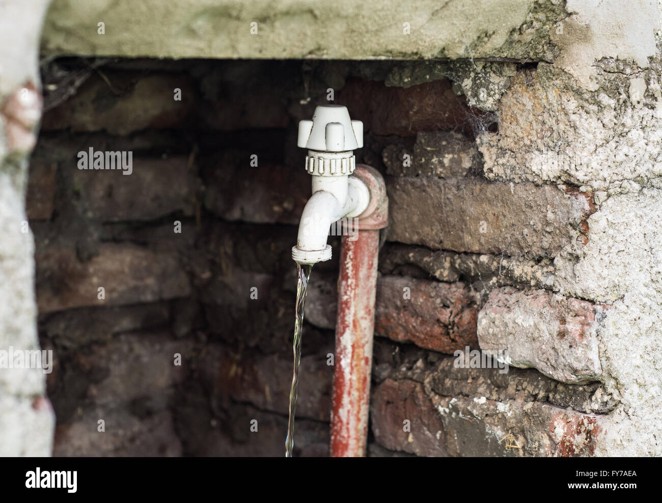 Old Cold Water Tap Faucet Stock Photos & Old Cold Water Tap Faucet ...