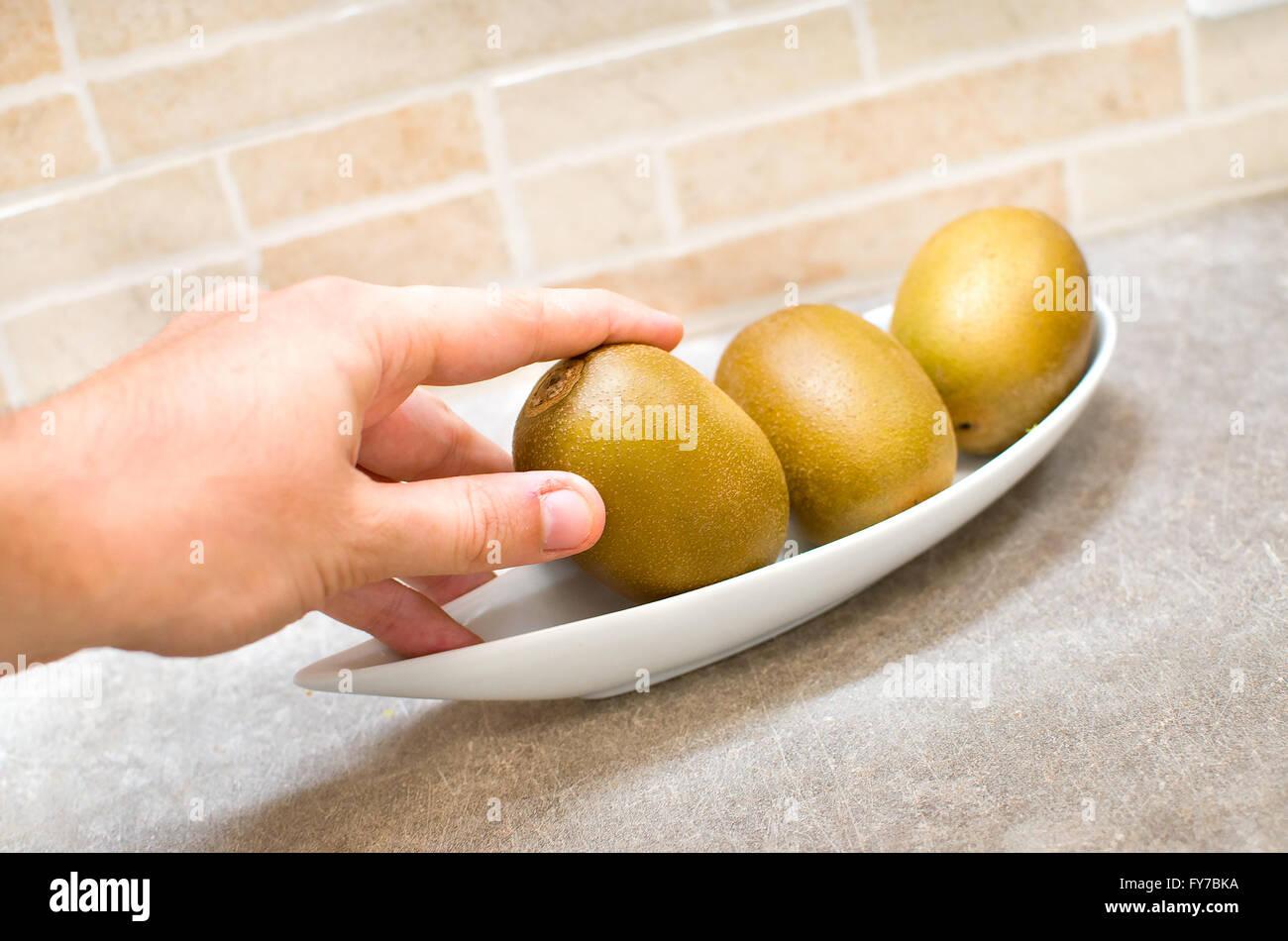 kiwi nutritional food - Stock Image
