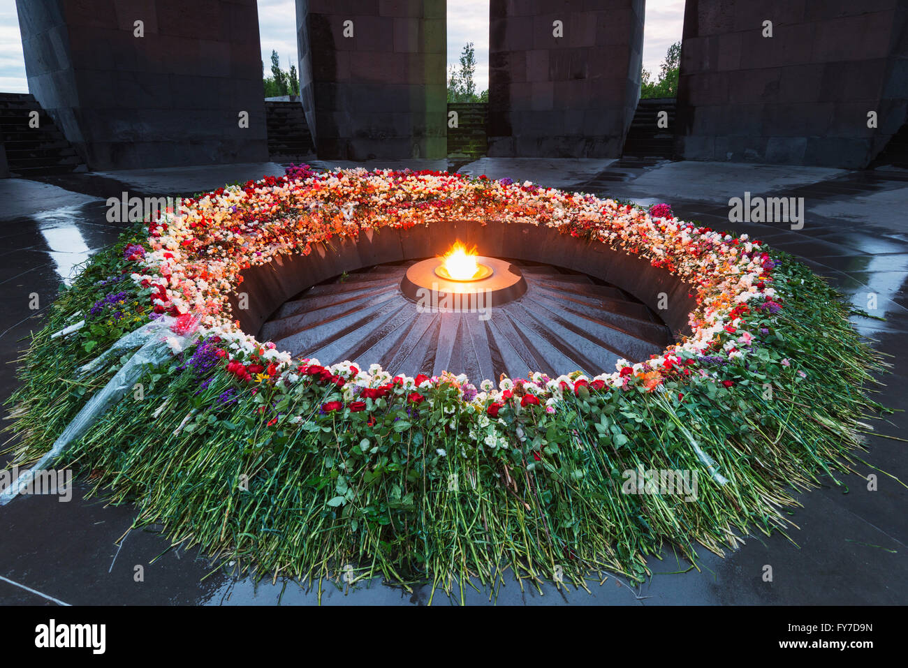 Eurasia, Caucasus region, Armenia, Yerevan, genocide memorial - Stock Image