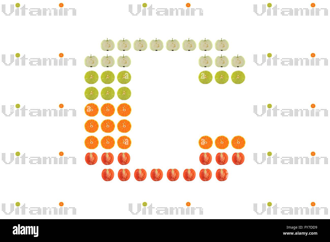 Vitamin C word on white background - Stock Image