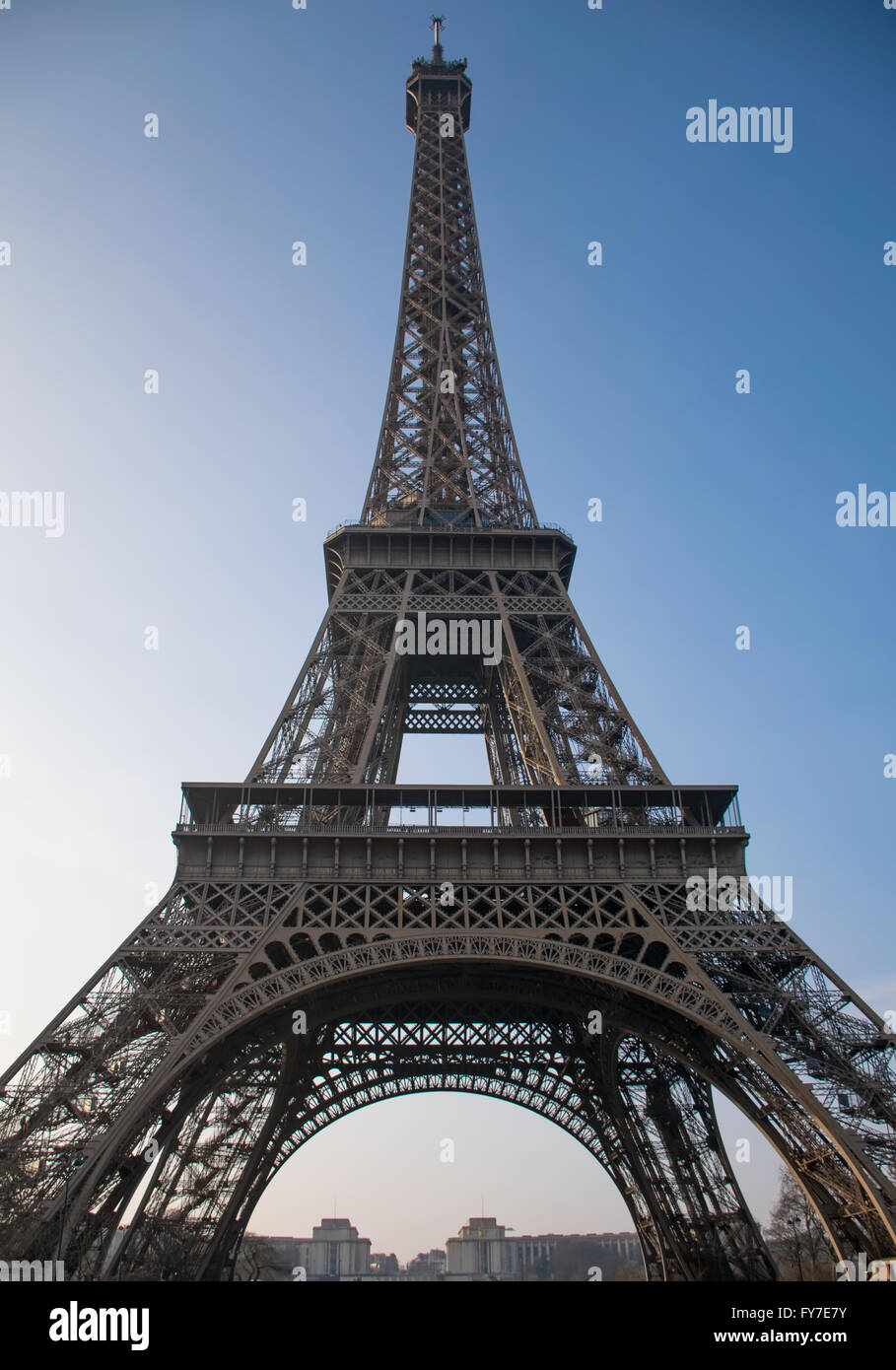 The Eiffel Tower from below - Stock Image