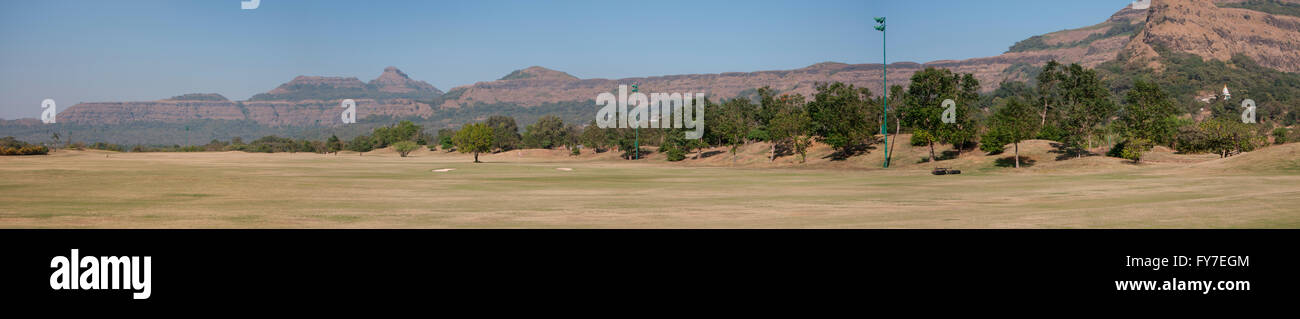 Aamby Valley Golf Course, 18 hole championship course is a 7087 yard, Par 72 layout designed by David. Hemstock - Stock Image