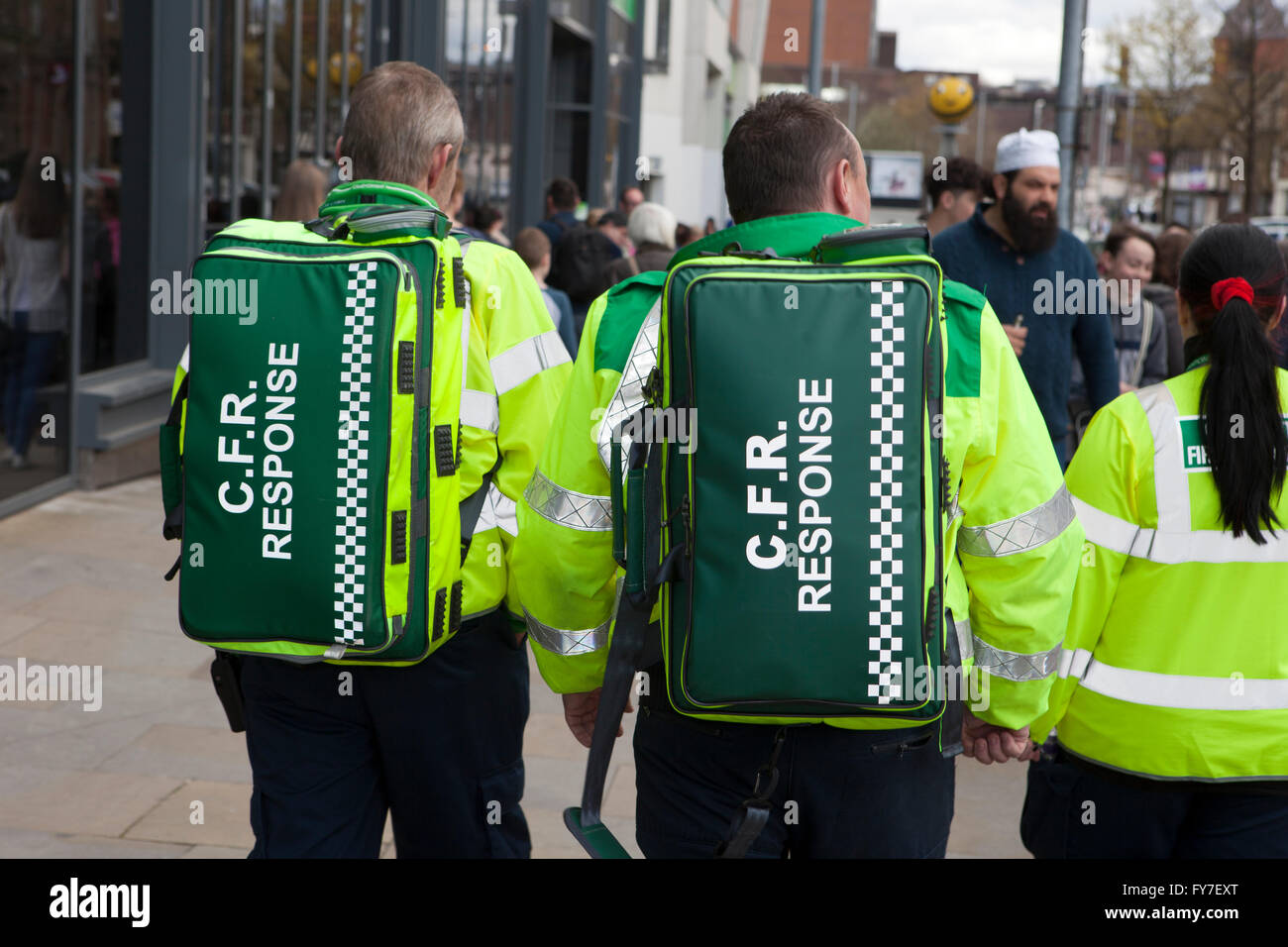 a ambulance medic paramedic emergency urgent healthcare first aid cpr response medical ambulances siren sirens ems Stock Photo