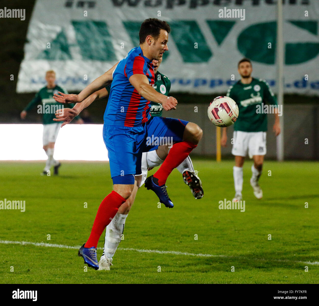 sports, football, Lower Rhine Cup, 2015/2016, semifinal, Wuppertaler SV versus Rot Weiss Oberhausen 6:4 on penalties, - Stock Image