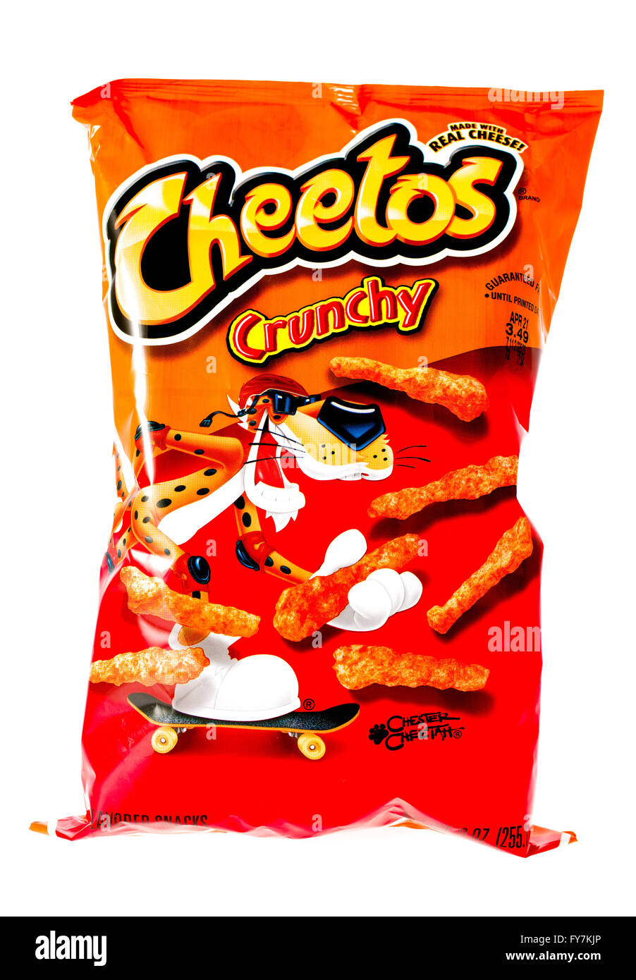 winneconne wi 9 april 2015 bag of cheetos which is owned by stock