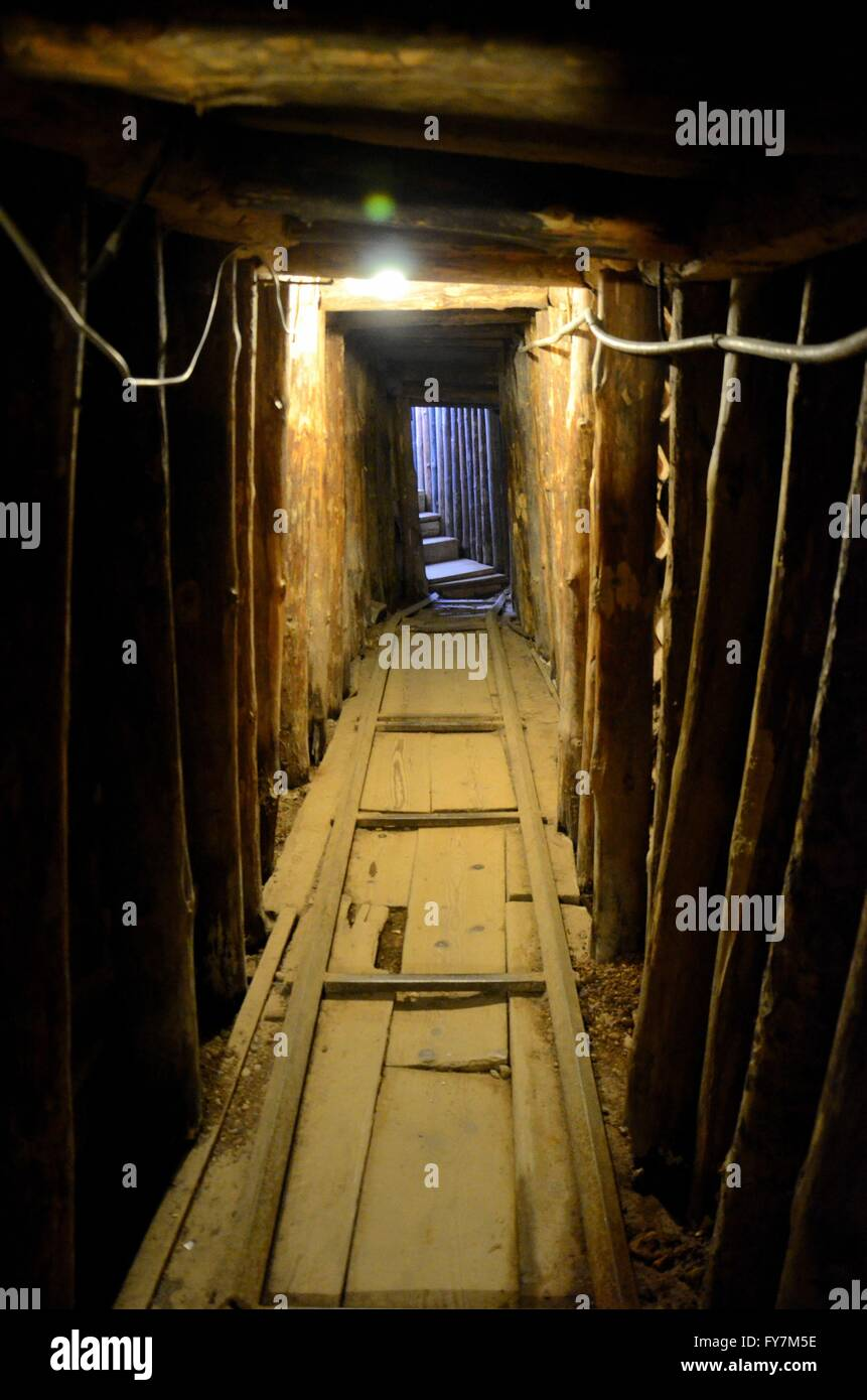 Inside the Sarajevo Tunnel used during Yugoslav civil war Serb siege of city Bosnia Herzegovina - Stock Image