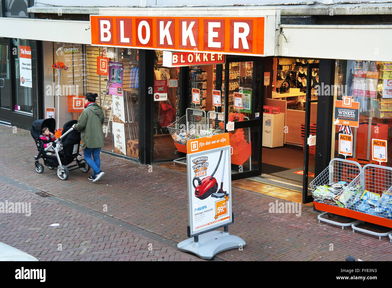 Blokker store, a Dutch Household appliances and interior decorating chain - Stock Image