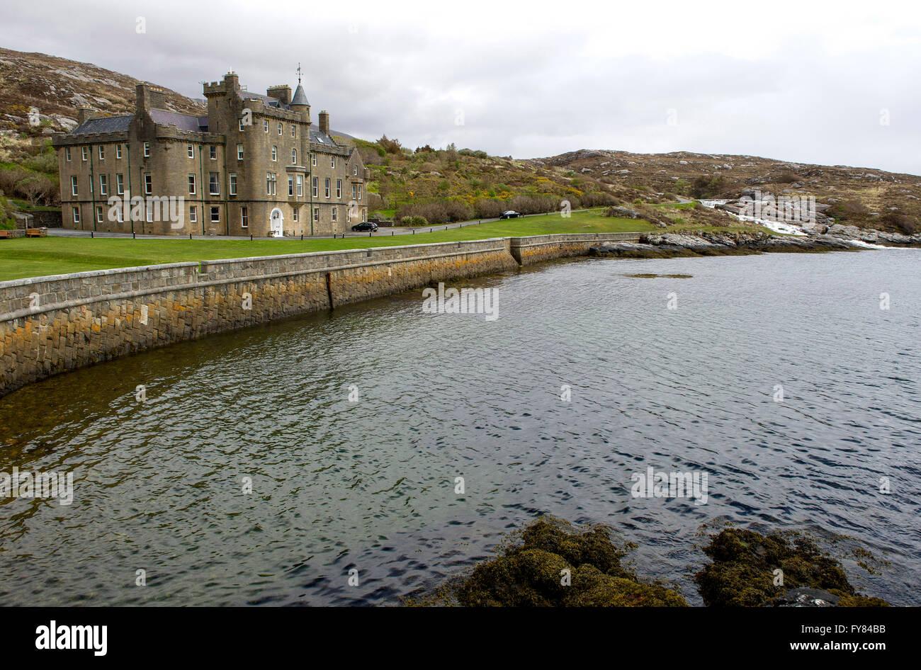Amhuinnsuidhe Castle Estate Isle of Harris, Outer Hebrides, Scotland, United Kingdom, Europe. - Stock Image