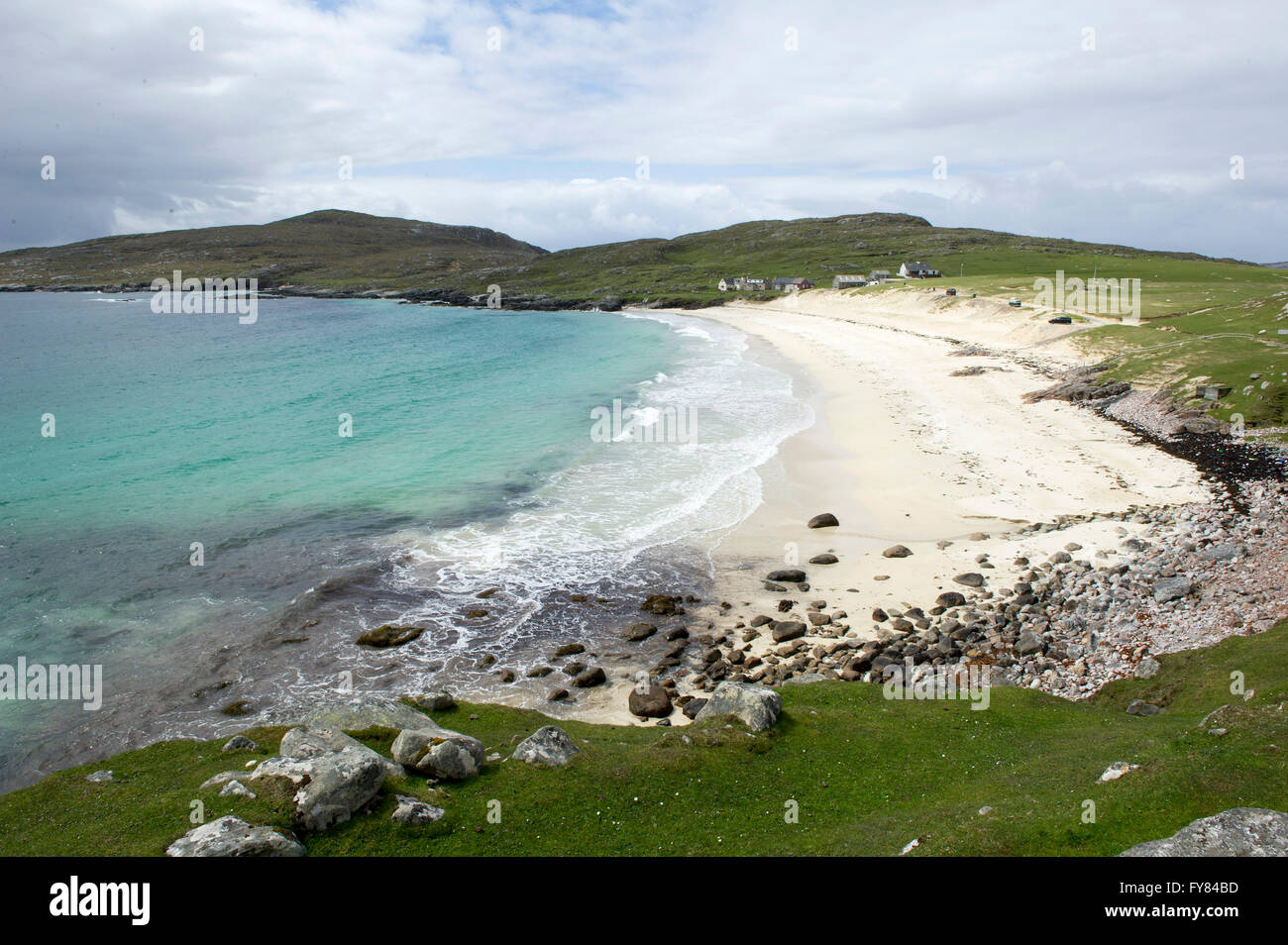 25/05/15.   Huisinish beach  Isle of Harris, Outer Hebrides Scotland GB. Picture Ian Rutherford - Stock Image