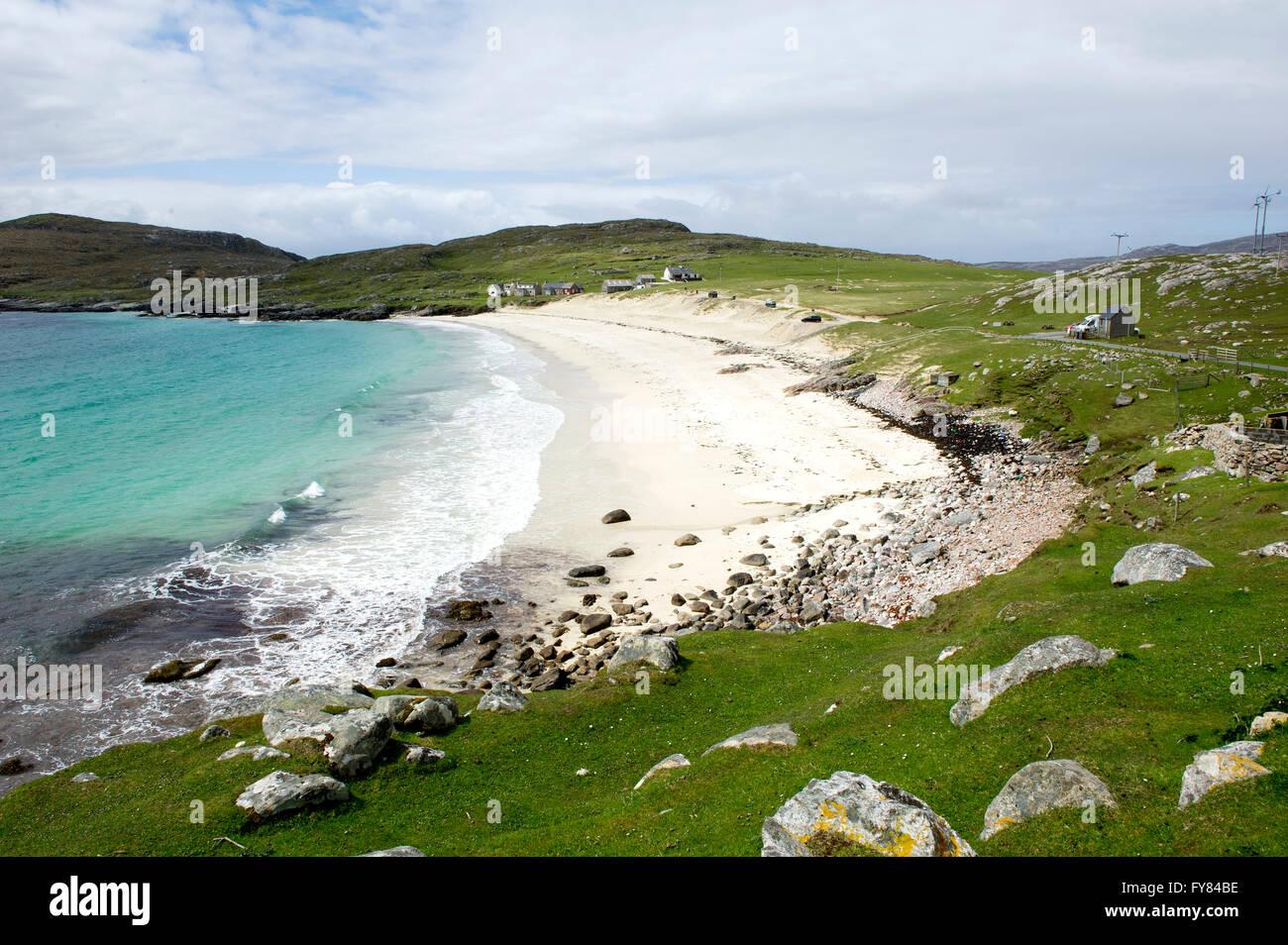 Huisinish beach  Isle of Harris, Outer Hebrides Scotland GB. - Stock Image