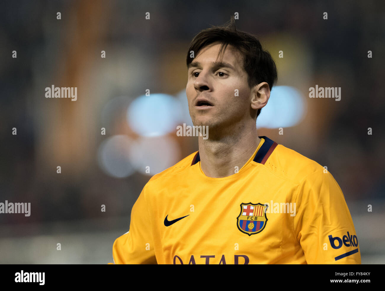 Leo Messi during the match between Valencia and Fc Barcelona - Stock Image