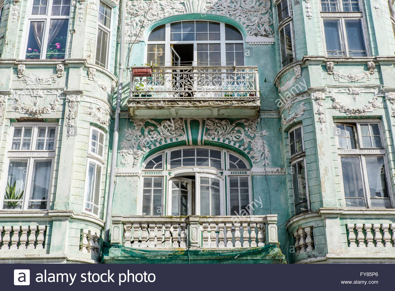 Superior Intricate And Elaborate Decoration On The Facade Of An Old House   Classic  Example Of European Architecture