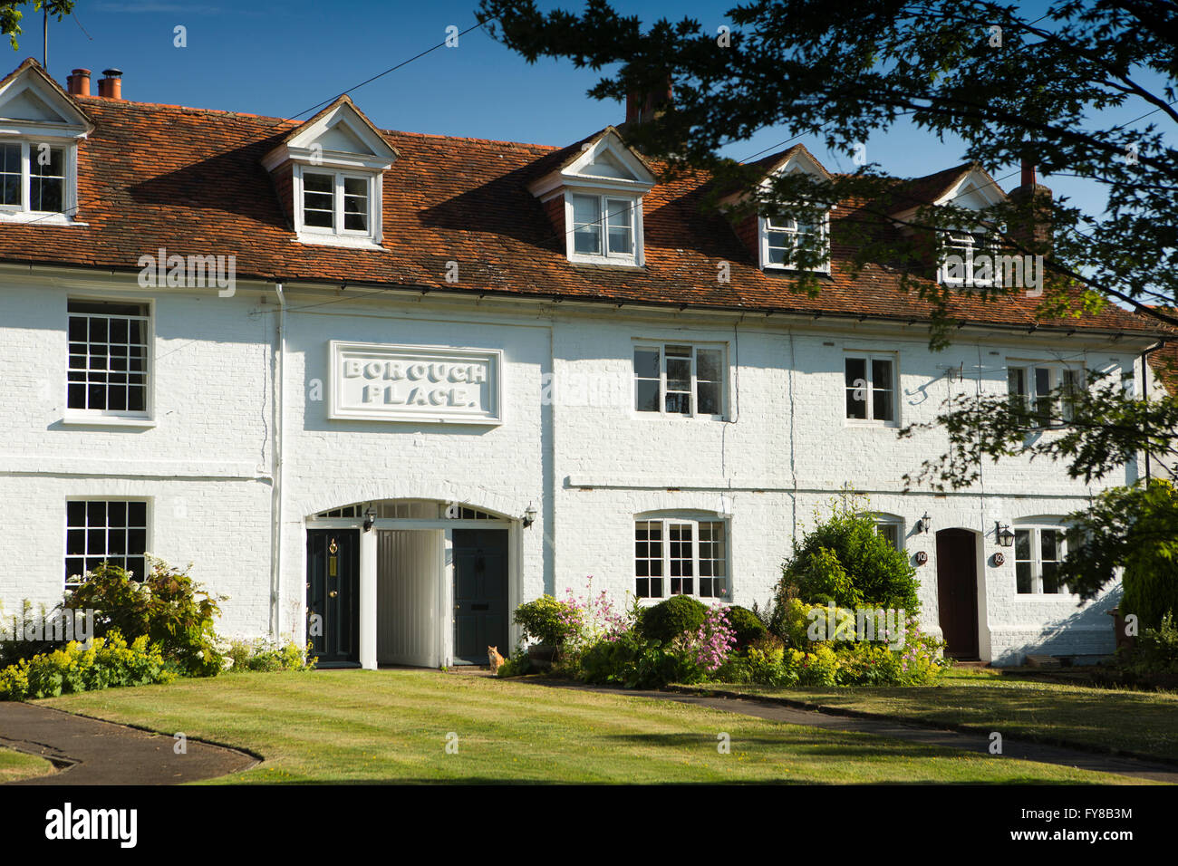 UK, Kent, Tenterden, High Street, Borough Place, former town workhouse - Stock Image