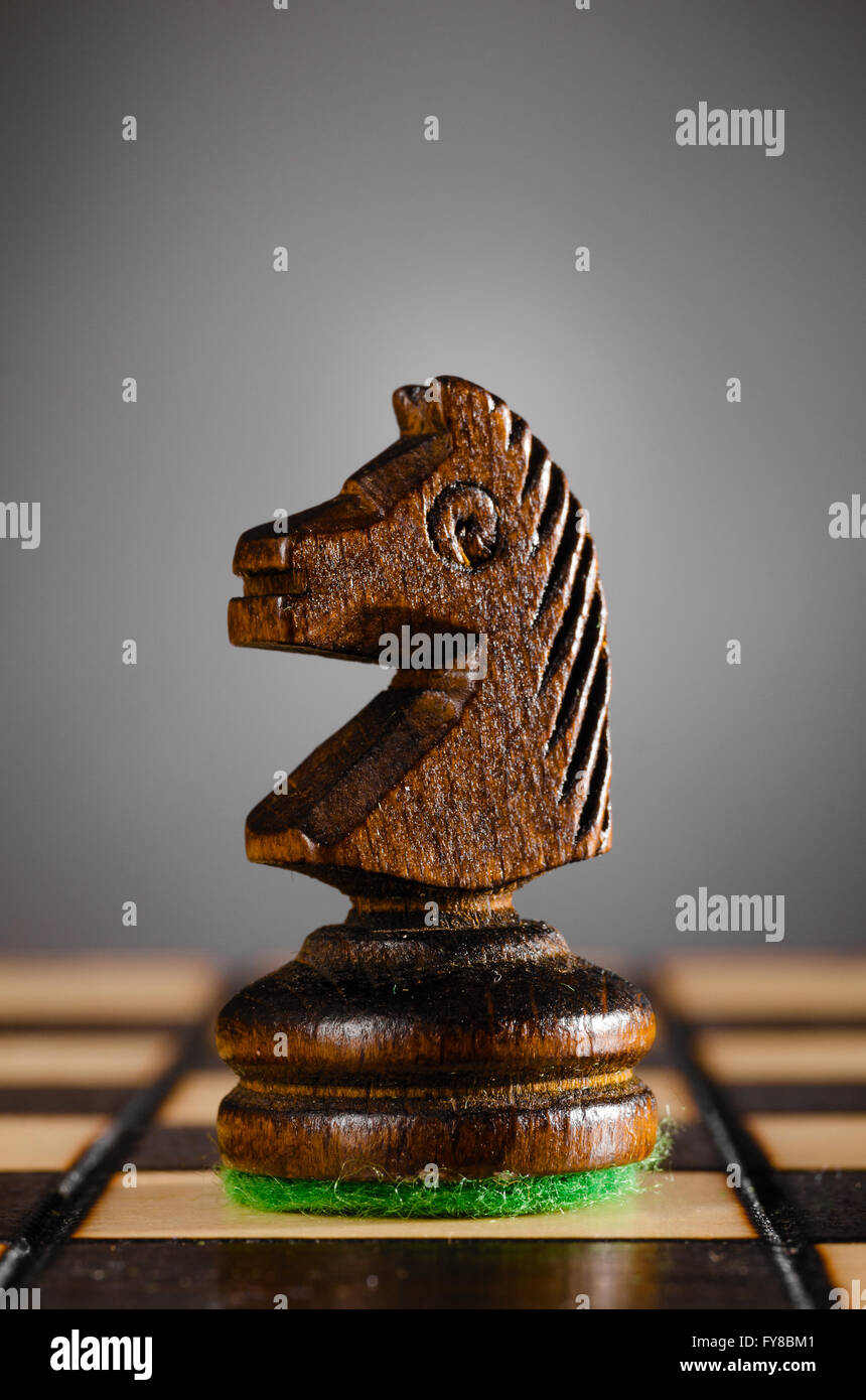wooden knight - Stock Image