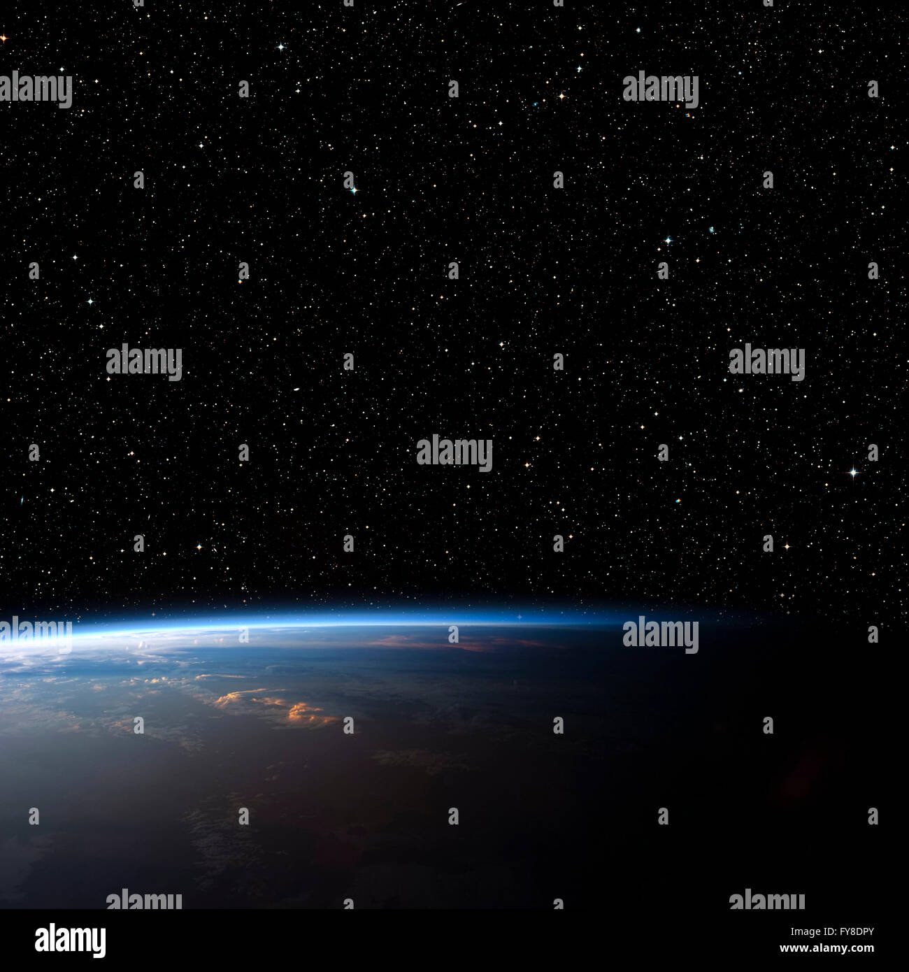 Planet Earth from space. Elements of this image furnished by NASA - Stock Image