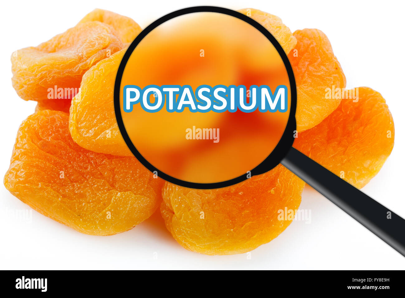 Dried Apricots Fruits Rich In Potassium Stock Photo Alamy