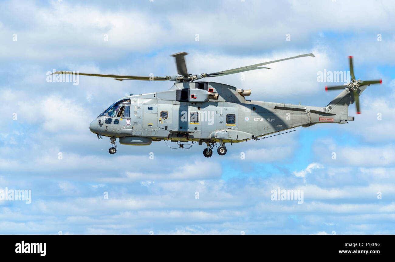 AgustaWestland AW101 Merlin HM2 helicopter in flight - Stock Image