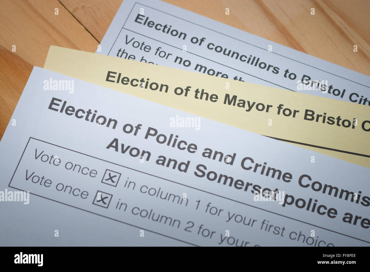 Ballots for the May 2016 Local elections in bristol - Stock Image