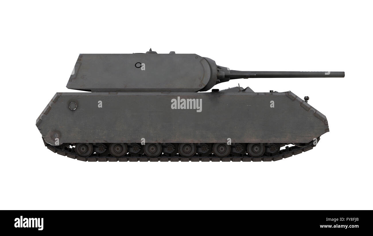Mouse German army heavy tank isolated gun - Stock Image
