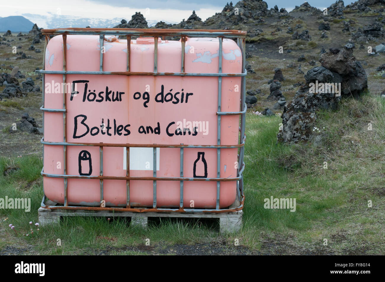 Recycling Park Iceland - Stock Image